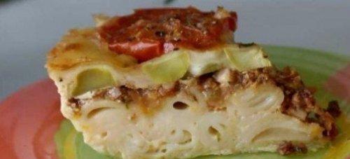 Ленивая лазанья-запеканка с кабачками
