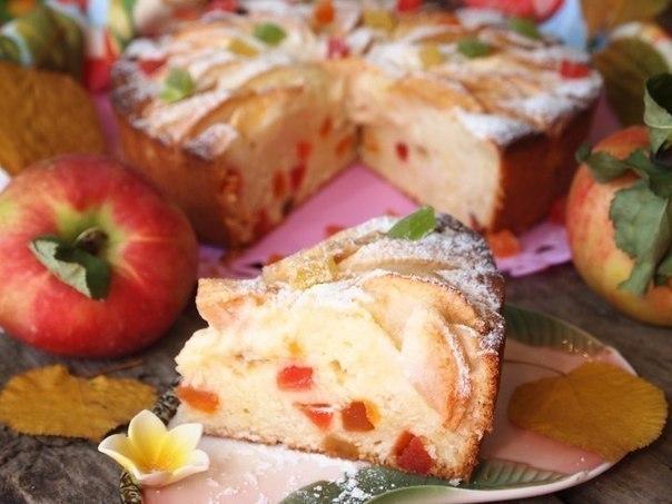 Творожно-яблочный пирог «Краски осени».