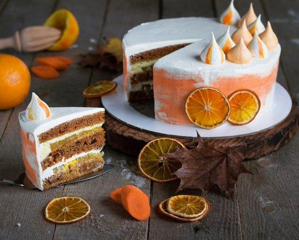 Морковно-апельсиновый торт.