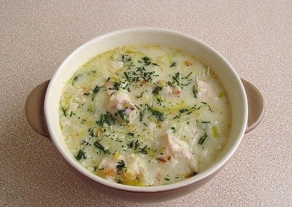 Суп с плавленным сыром и курицей и шампиньонами рецепт с пошагово