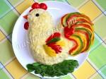 Рецепт новогоднего салата «Петушок»