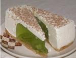 Желейный тортик из киви и сметаны без выпечки