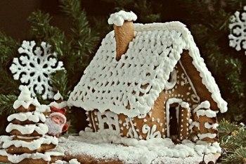 Как сделать пряничный домик на Новый год.