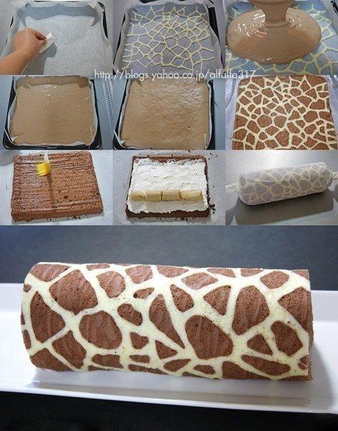 Фантастический по вкусу рулет «Жираф»