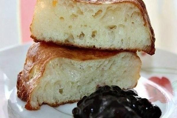 Пирог со сгущенкой к чаю.