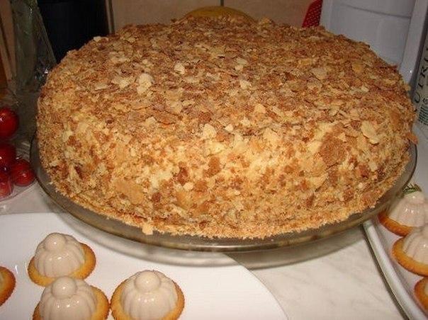 Оригинальный торт «Наполеон» (за пол часа).